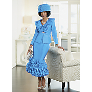 Delisa Hat and Skirt Suit