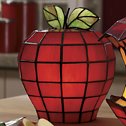 Stained Glass Apple Lamp