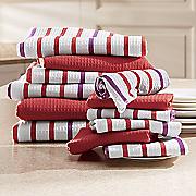 12 pc  waffle weave kitchen towel set