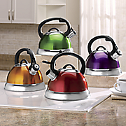 Colorful 2.5-Qt. Whistling Teakettle
