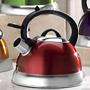colorful 2 5 qt  whistling teakettle