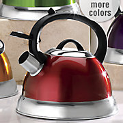 colorful 2 5 qt  whistling teakettle