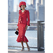 Leanne Hat and Camille Skirt Suit