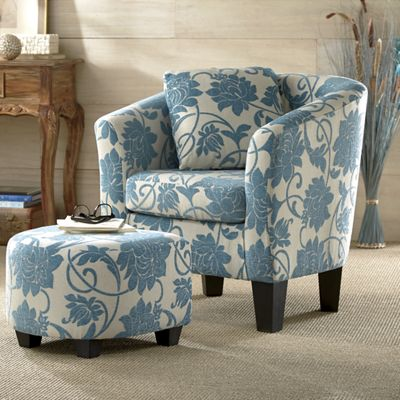 Crestview Accent Chair Amp Ottoman From Through The Country