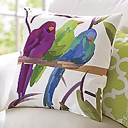 birds of paradise pillow