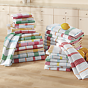 16 pc  waffle weave kitchen towel set