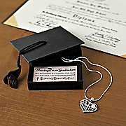 graduation heart pendant on 16 inch shain w exten