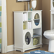 short oval towel cabinet
