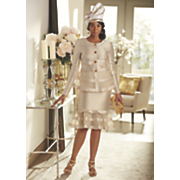 brooklyn skirt suit   lacy hat
