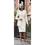 Brooklyn Skirt Suit & Lacy Hat