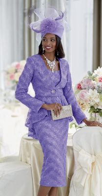 Genoa Hat and Sylvie Skirt Suit