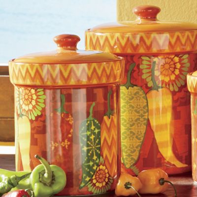fiesta kitchen canister set from seventh avenue 722361 fiesta 2 qt kitchen canister