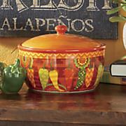 fiesta kitchen bean pot