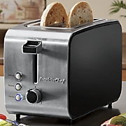 Classic 2-Slice Black and Stainless Steel Toaster