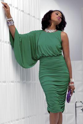 Della Cape Sleeve Dress