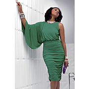 Della Cape Sleeve Dress