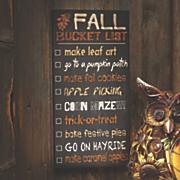 fall bucket list sign