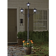 solar lamppost with planter