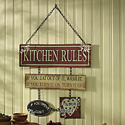 Kitchen Rules Plaque
