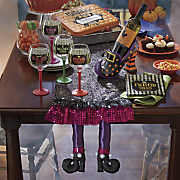 3 d hilda witch shoe table runner