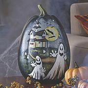 hand painted pumpkin