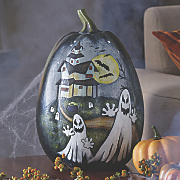 hand painted pumpkin