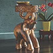 carved elephant stool