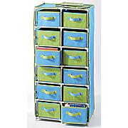 meritus 12 drawer color storage