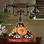 Stained Glass Faux Telephone Lamp