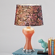 paisley velvet lamp