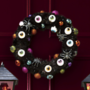 lighted eyeball wreath