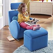 Kids Rocker Chair with Storage Ottoman