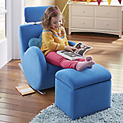 kids rocker chair with storage ottoman