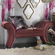Velvet Upholstered Bench