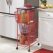 3-Basket Rolling Cart