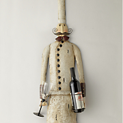 skinny chef wine holder