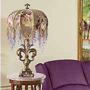 helena beaded floral lamp