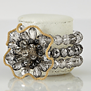 cleopatra crystal bead bracelet
