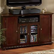 walnut corner tv stand