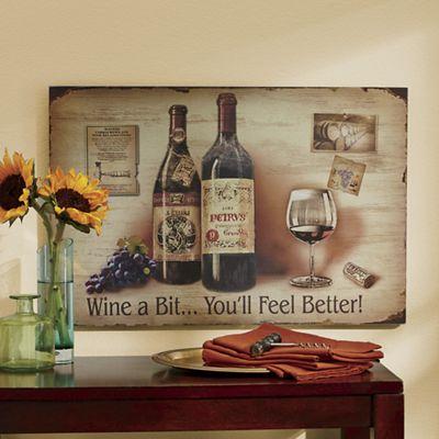 Wine a Bit Wall Art from Midnight Velvet 722856