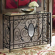 monogrammed metal console table