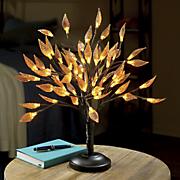 lighted autumn leaves tree