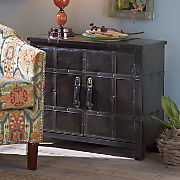 Continental 2-Door Faux Leather Cabinet
