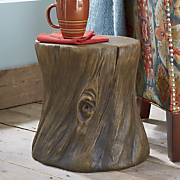 roy s faux wood stool