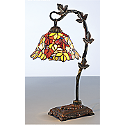 stained glass leaves table lamp