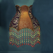 victorian beaded wireless led wall sconce