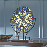 Stained Glass Lit Halston Panel