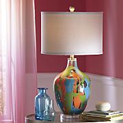 Paint Splatter Table Lamp