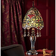 Stained Glass Crystal Drop Lamp