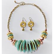 secret getaway necklace earring set